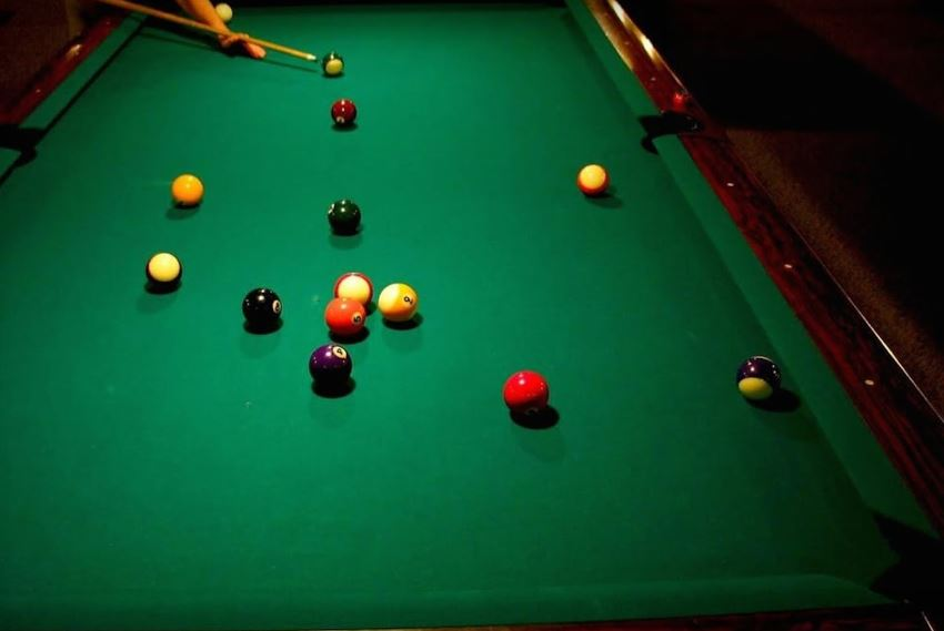 Pool Table Balls Scattered Billiards Near Me